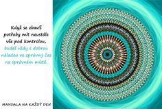 Mandala Dobrá nálada Chakra, Yoga, Motivation, Chakras, Yoga Sayings, Determination, Inspiration
