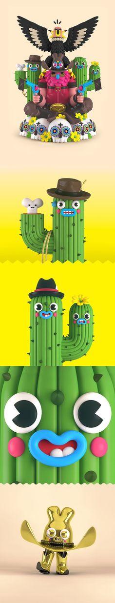 El colorit i la diversió hilarant de la il·lustracions 3D d'El Gran Chamaco