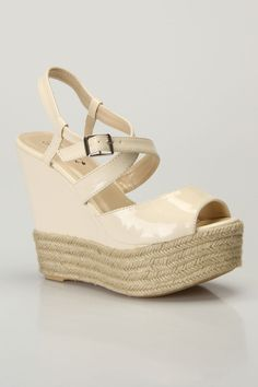 Rachel 01 Wedge Sandals In Beige  $29.99