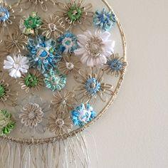 Flowerloom Dreamcatcher #neekienoohome #weaving #dtll