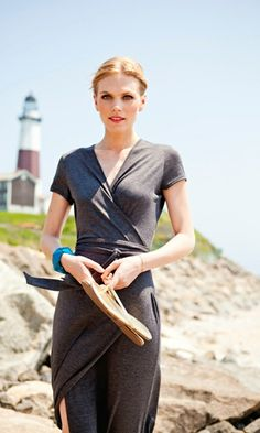 Maybe the most perfect jersey wrap maxidress ever? Maybe... (Elizabeth Islands dress from Shabby Apple)