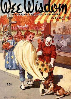 Vintage Halloween Magazine Cover