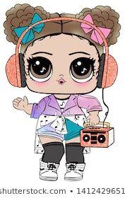 Lol Doll Design for Baby T-shirt - bonecas Lol - Kawaii 365, New Baby Announcements, Paper Dolls Printable, Halloween Drawings, Lol Dolls, Cute Illustration, Illustration Fashion, Baby Design, Cute Drawings