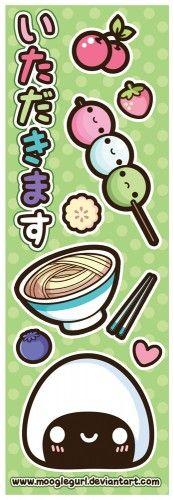 Japanese Food Bookmark