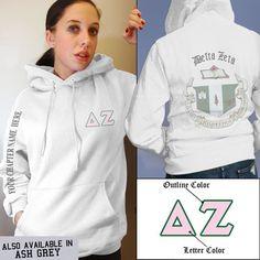 Delta Zeta Crest Sweatshirt $39.95 I adore having our crest on a jacket