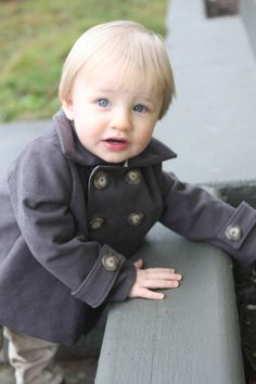 dmk moleskin peacoat -- probably Baby Crafts, Moleskine, Beautiful Children, Cute Kids, Boy Outfits, Coat, Fabric, Clothes, Kids Clothing