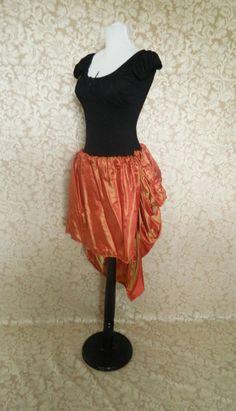 20 DOLLAR SALE Tabitha Orange/Red/Gold Shot Knee by AliceAndWillow