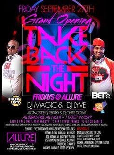 Take Back The Night Fridays @Stacy Lounge Friday September 27, 2013