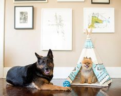 Awesome Pet Teepee small blue/grey by lovelane on Etsy