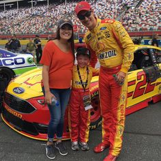 "3,491 Likes, 18 Comments - Joey Logano (@joeylogano) on Instagram: ""Brittany and I got to hang out pre-race with our #JLKidsCrew @joeyloganofoundation buddy Jonah"""