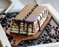 Tarta de galletas y café Cake Shop, Dessert Recipes, Desserts, Bakery, Sweet Treats, Yummy Food, Yummy Yummy, Sweets, Flan