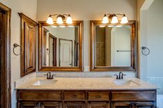 Mirrors | Lighting | Granite | Faucets | Tile | Bathrooms | SW OKC | Home Builders