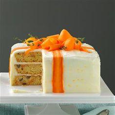 Wonderful Orange Cake Decorating Ideas with regard to Three-Layered Carrot Cake Photo Homemade Carrot Cake, Best Carrot Cake, Carrot Cake Cupcakes, Cupcake Cakes, Carrot Cakes, Carrot Cake Decoration, Cake Decorations, Easy Cake Decorating, Decorating Ideas