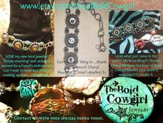 BOLD COWGIRL Boot Jewelry Boot Bling Boot Bracelet by BoldCowgirl