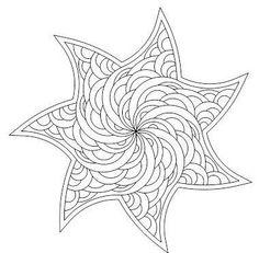 Hakuna Mandala: Creative Coloring for Grown-ups (Complicated Coloring) Pattern Coloring Pages, Mandala Coloring Pages, Colouring Pages, Printable Coloring Pages, Adult Coloring Pages, Coloring Books, Quilling Patterns, Zentangle Patterns, Zentangles