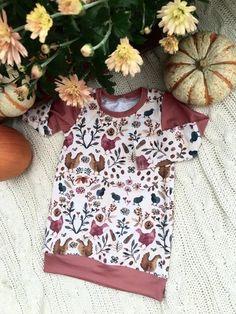 Tunic, baby tunic, toddler tunic, baby dress, toddler dress, baby fall clothes, modern baby clothes, baby shower gift, chicken, country girl