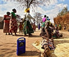 Women are the backbone of rural Africa. This is one of the thousands of COMACO - Community Markets for Conservation farmer listener groups in Eastern Zambia.