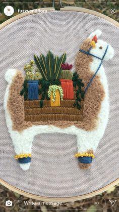 Llama hoop for baby L's wall