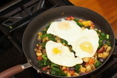 "You can use just about any combination of vegetables for this hash. Having a base of potato or sweet potato is recommended, but use whatever you have on hand, hence the ""kitchen sink"" moniker. Soup Recipes, Cooking Recipes, Healthy Recipes, Recipies, Healthy Snacks, Detox Cleanse Recipes, Detox Meals, Detox Foods, Clean Eating Recipes"