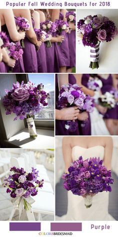 10 stunning fall wedding bouquets to match your big day . 10 stunning fall wedding bouquets to match your big day # stunning bouquet Purple Wedding Bouquets, Plum Wedding, Fall Wedding Colors, Bride Bouquets, Flower Bouquet Wedding, Bridesmaid Bouquet, Wedding Color Schemes, Diy Wedding, Wedding Cake Purple