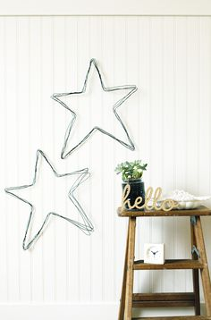 Easy DIY wire star art