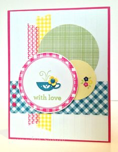 Gingham Garden for Mojo Monday by stampwithsandy - Cards and Paper Crafts at Splitcoaststampers