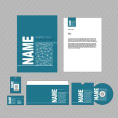 Set of Business identity Kit template design vector 01