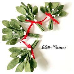 Felt Christmas, felt Mistletoe, felt ornaments ❤ liked on Polyvore featuring home, home decor, holiday decorations, christmas ball ornaments, felt ornaments, handmade ornaments, holiday decor and keepsake christmas ornaments