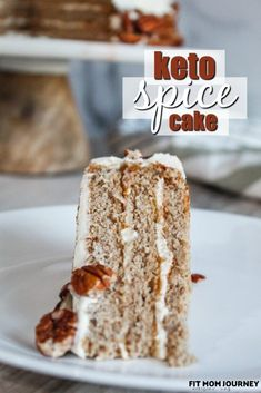 Keto Spice cake with a wonderful cream cheese frosting! One of my absolute favorite fall/winter cakes made keto, and stacked into a show-stopping layer cake. Keto Bagels, Keto Biscuits, Keto Cream Cheese Pancakes, Cream Cheese Frosting, Baking With Coconut Flour, Almond Flour, 16 Bars, Keto Cheesecake, Blackberry Cheesecake