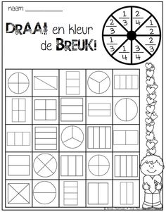 Fun math fractions worksheet with art. Spin and Color a Fraction! What a fun way to learn and practice fractions! Maths Guidés, Teaching Fractions, Fractions Worksheets, Math Fractions, Math Classroom, Fun Math, Teaching Math, Math For Kids, Equivalent Fractions