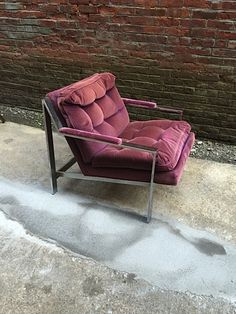 Cy Mann 1970s Chrome Armchair: click to enlarge