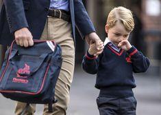 Prince George arriving for his first day of school - HarpersBAZAAR.com