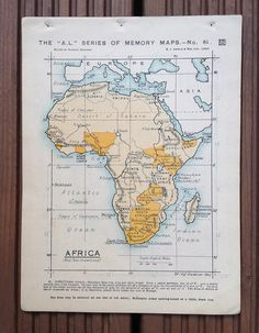 Map of Africa by wafflesandsprout on Etsy