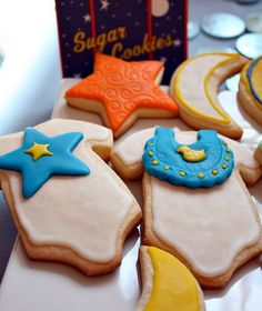 Goodnight Moon baby shower cookies