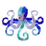 sea glass octopus