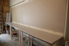 DIY workbench on the cheap - www.lovemydiyhome.com  #diy #workbench