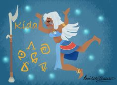 This is My drawing of princess Kida from Disney Atlantis! It's based on Rapunzel's wall paintings Kida wall painting Disney Films, Disney And Dreamworks, Disney Characters, Princess Kida, Princess Beauty, Atlantis The Lost Empire, Cute Disney Drawings, Disney Artists, Disney Images