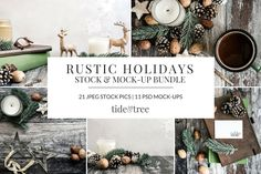 Kick ass Social media Rustic Holidays Set—Welcome to Tide & Tree!