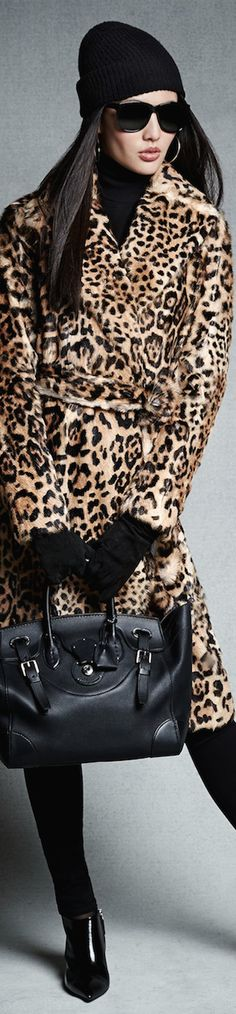 'Stunning modern pieces' by Ralph Lauren Black Label Collection Pre-Fall 2014 Ralph Lauren Soft Ricky … Leopard Fashion, Animal Print Fashion, Fashion Prints, Love Fashion, Womens Fashion, Animal Prints, Ralph Lauren Style, Ralph Lauren Black Label, How To Have Style