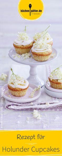 Zuckersüße Cupcakes mit Holunderblüten gibt's in unserem leckeren Rezept für den Frühling.