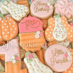 LOVE this theme for a sweet little girl's first birthday! Our little pumpkin…