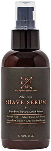 Aftershave Serum for Razor Bumps And Ingrown Hairs | Natural & Organic Ingredients to Prevent Razor Burn, Soothe Inflammation & Ingrown Hair Treatment