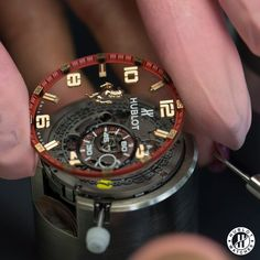 The beauty of The Hublot Ferrari Dial!