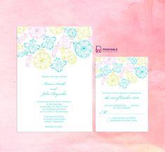 2016 Spring Blooms – Wedding Invitation and RSVP Set