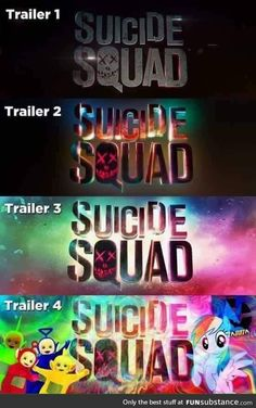 Changes in Suicide Squad's logo - Visit now to grab yourself a super hero shirt today at 40% off!
