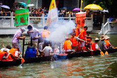 Dragon Boat Festival in Liede Village in Canton, in by MIchael Su on Overseas Chinese, Visit China, Dragon Boat Festival, Guangzhou, Explore, Painting, Painting Art, Paintings, Painted Canvas