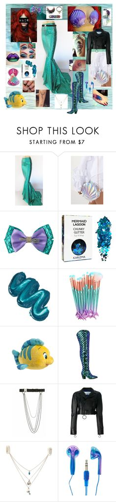 """""""Punk Ariel."""" by sjcountrygirl-sj ❤ liked on Polyvore featuring The Fashion Bible, Disney, Mermaid Salon, Disney Couture, Nasty Gal, Alyx and Off-White"""