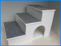 Exclusive Hunde / Katzen Treppe Höhe 60cm mit Kuschelhöhle + Teppich in Haustierbedarf, Hunde, Transport & Reisen | eBay