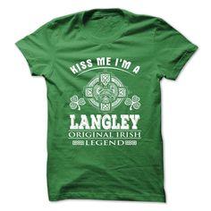 (Tshirt Top Gift) 10 Kiss Me I Am LANGLEY Discount Best Hoodies Tees Shirts