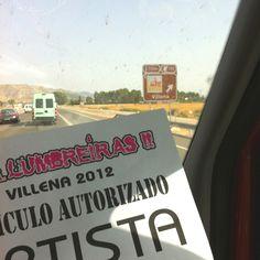 Llegando a Villena....hoy Aupa Lumbreiras!!!